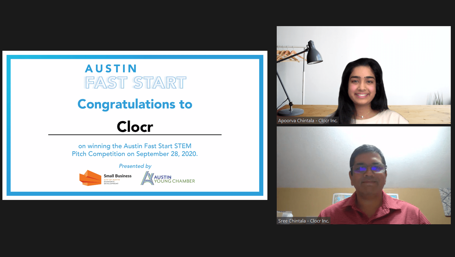 Clocr wins 'Austin Fast Start' pitching competition