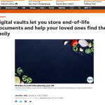 USA Today features Clocr in an exclusive feature on Digital Vaults